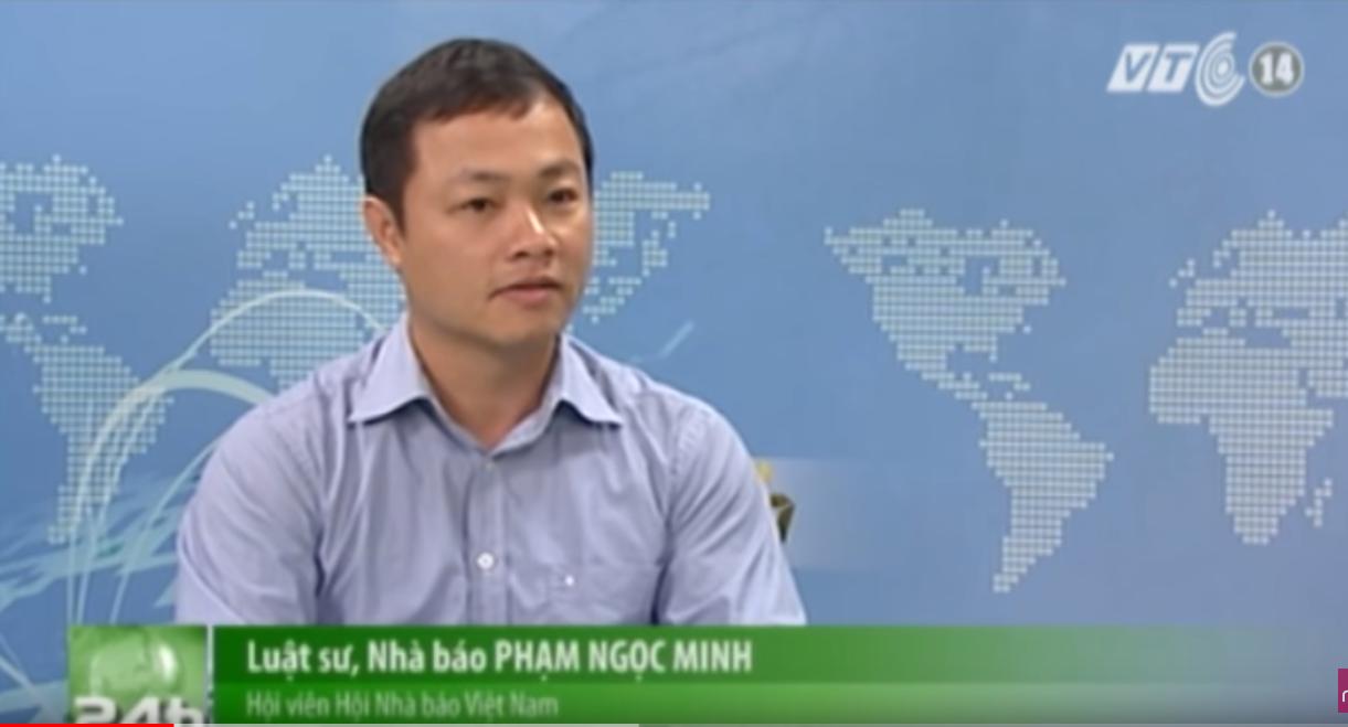 """Luật sư Phạm Ngọc Minh trả lời VTC14 - vụ việc """"cấm nhà báo quay phim chụp hình"""""""