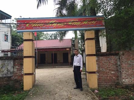 Thửa đất mà Ủy ban nhân dân xã ra thông báo thu hồi của ông Dương Văn Giáp
