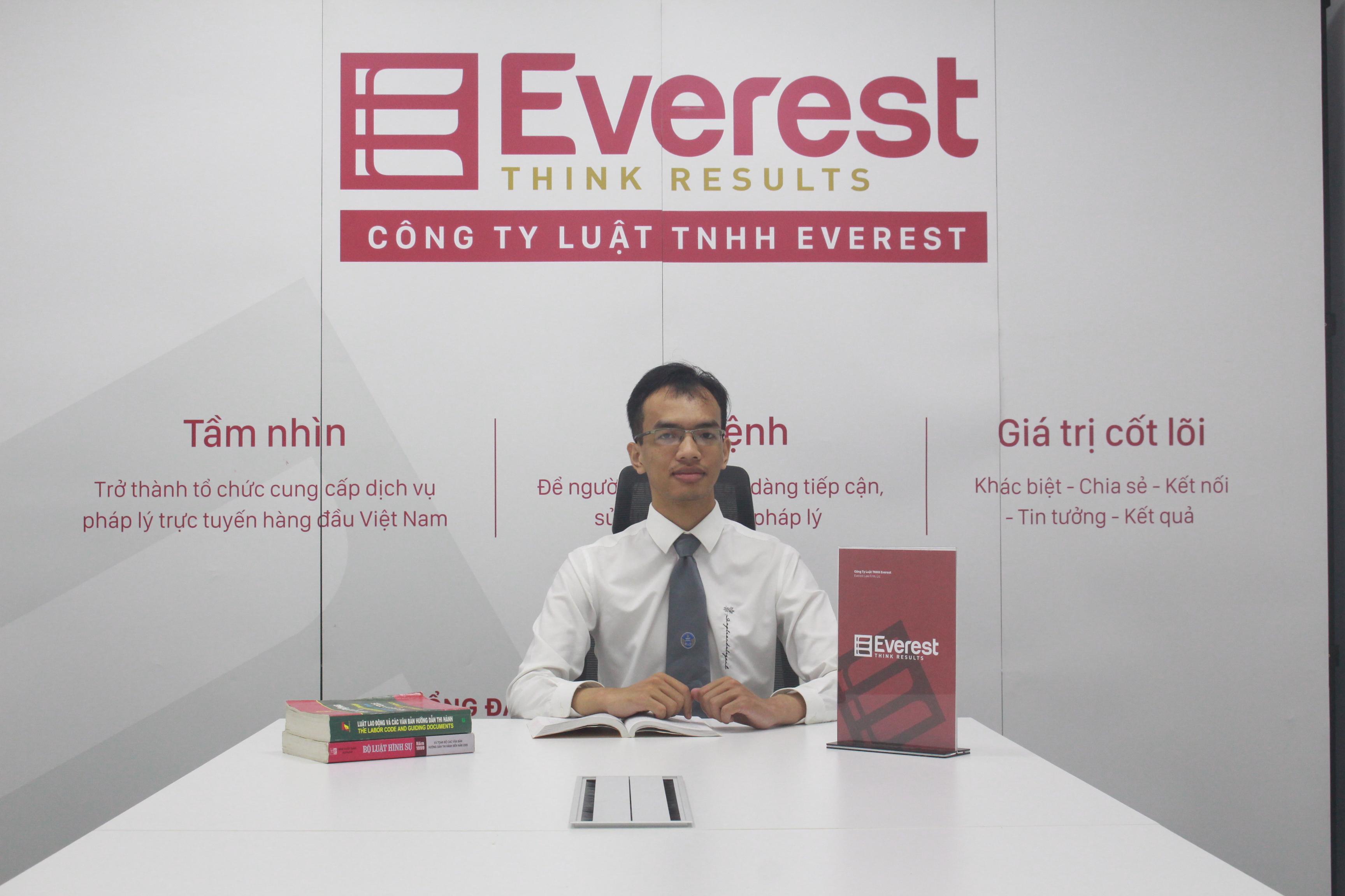 Luật gia Nguyễn Sỹ Việt - Công ty Luật TNHH Everest - Tổng đài tư vấn 24/7: 1900 6198